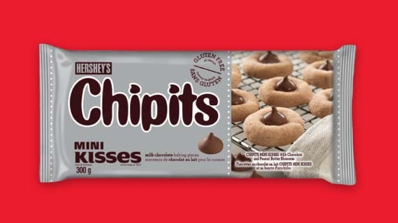 HERSHEY'S CHIPITS MINI KISSES Milk Chocolate Baking Pieces