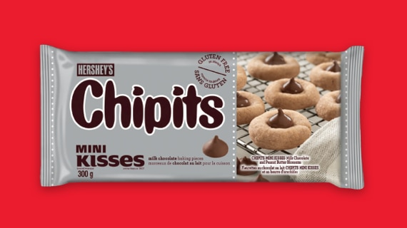 CHIPITS Mini KISSES Milk Chocolate Baking Pieces